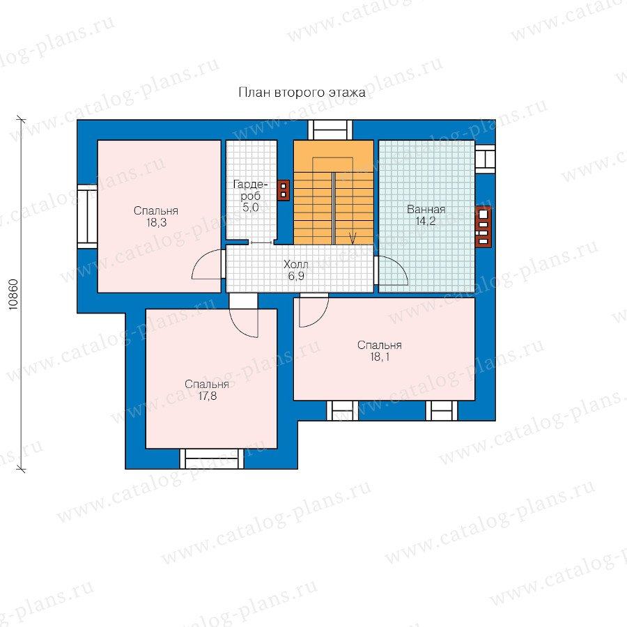 План 2-этажа проекта 58-28L