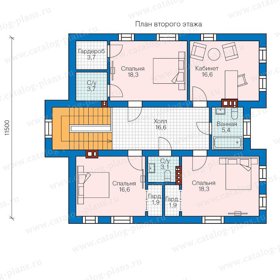 План 2-этажа проекта 58-41K