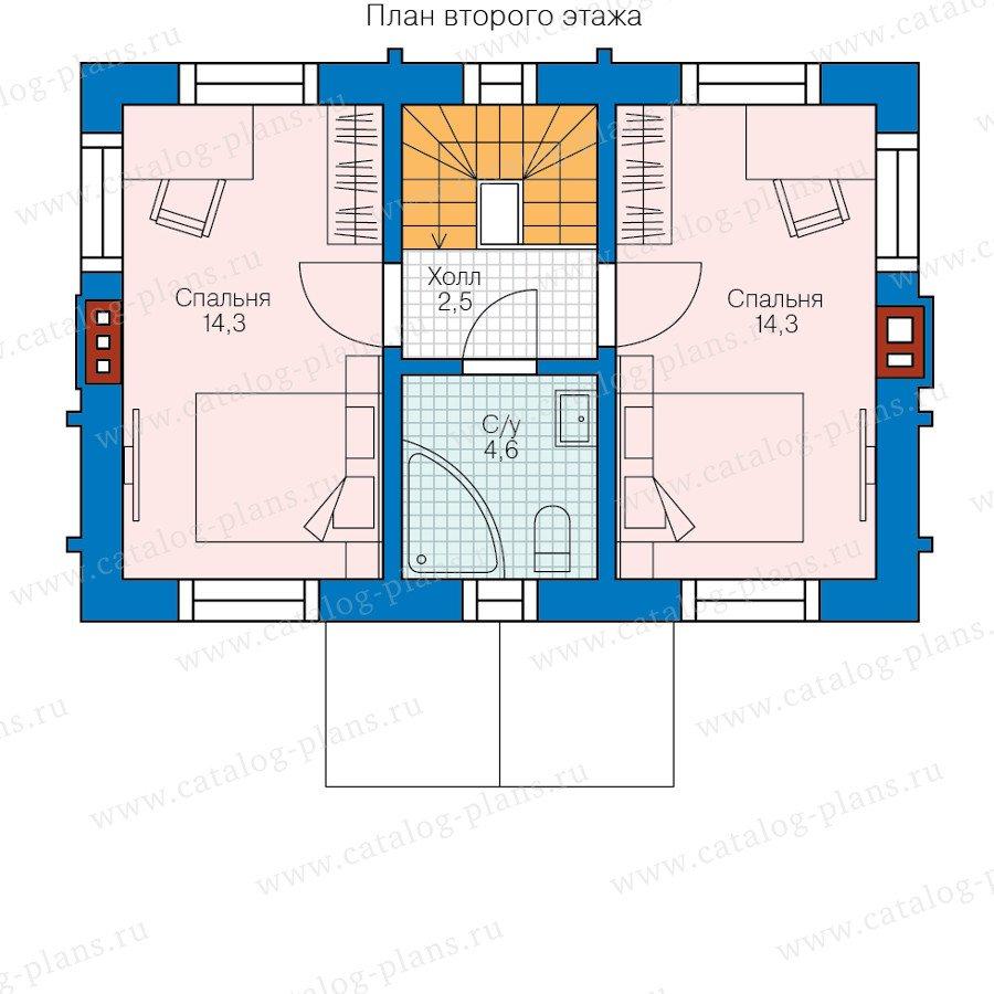 План 2-этажа проекта 58-58