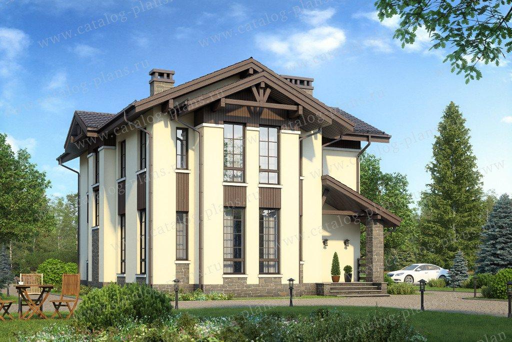 Проект жилой дом #58-42K материал - кирпич, стиль современный