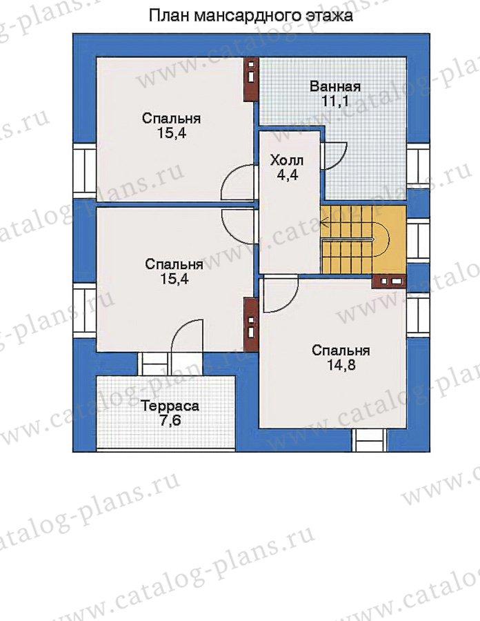 План 2-этажа проекта 34-78