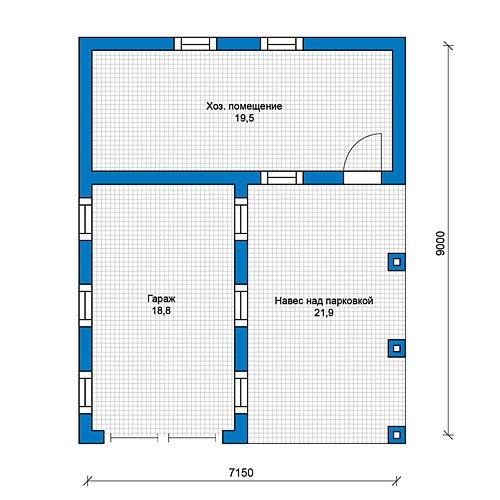 План 1-этажа проекта 70-35