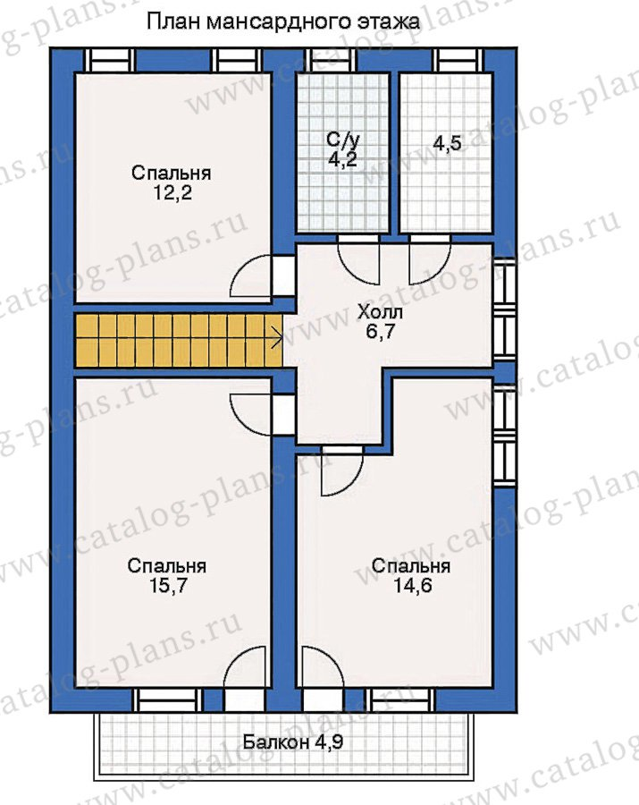 План 2-этажа проекта 10-29