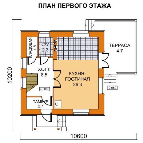 План 1-этажа проекта 59-38