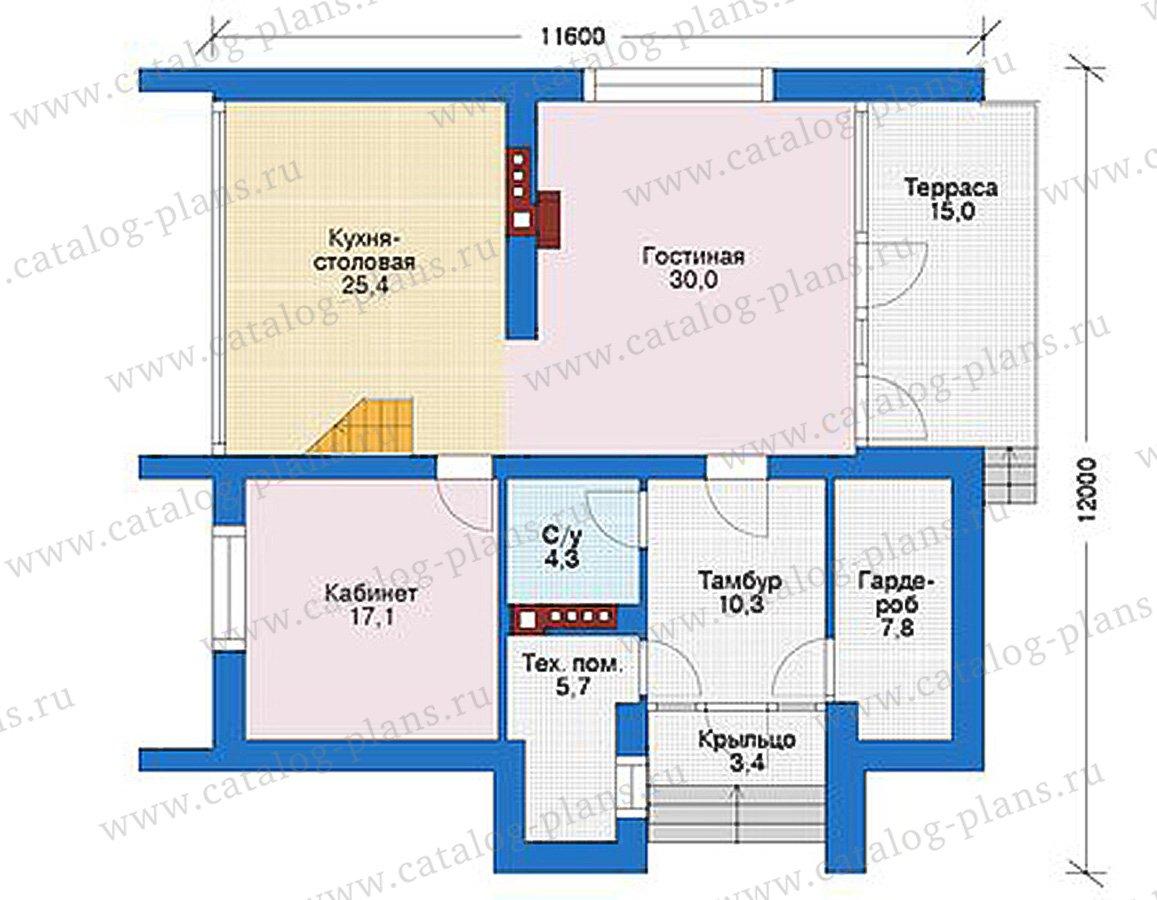 План 1-этажа проекта 39-15
