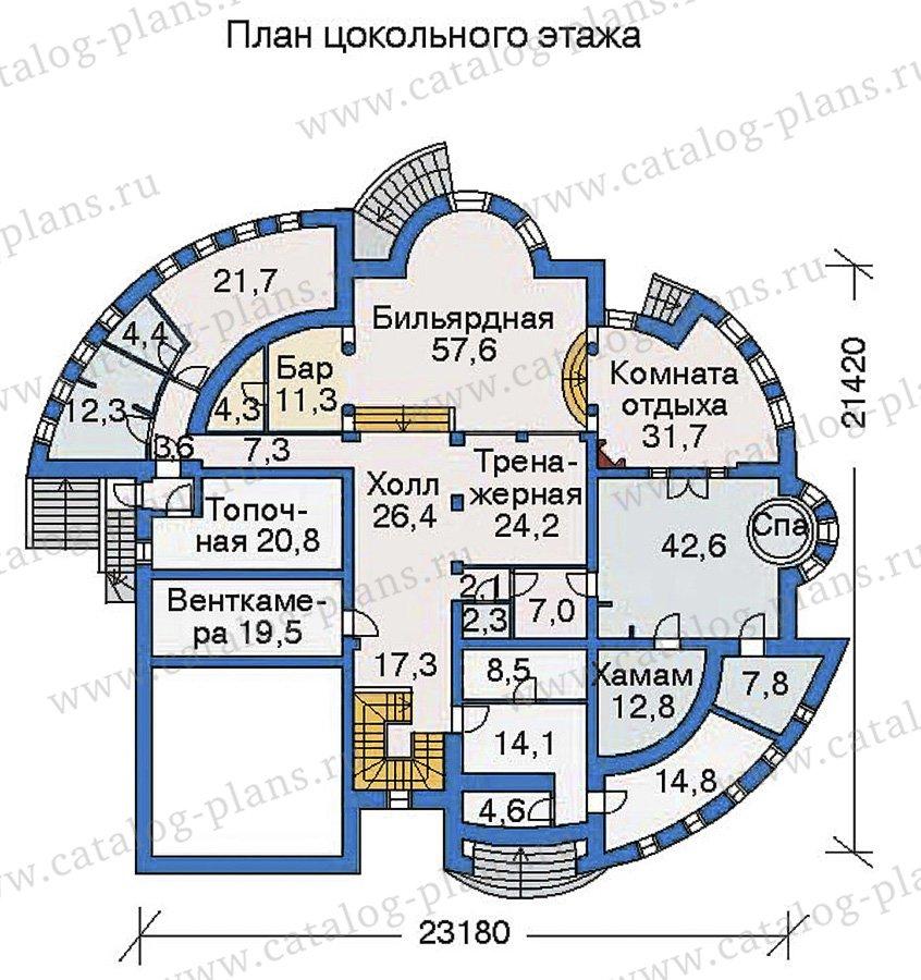 План 1-этажа проекта 36-24