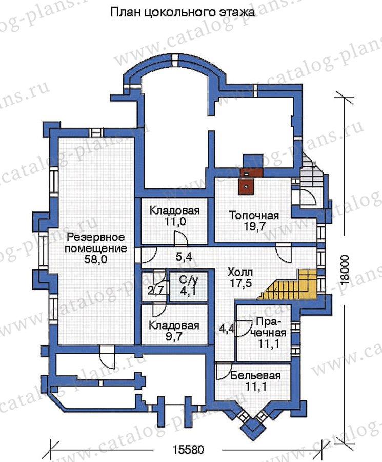 План 1-этажа проекта 36-22