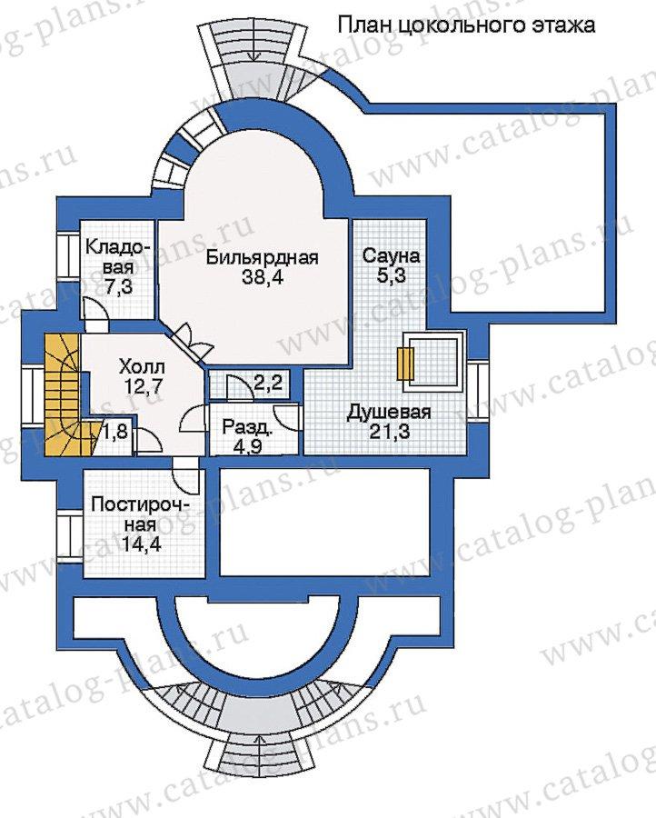 План 1-этажа проекта 35-27