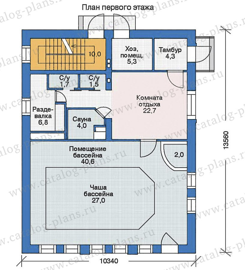 План 2-этажа проекта 35-95