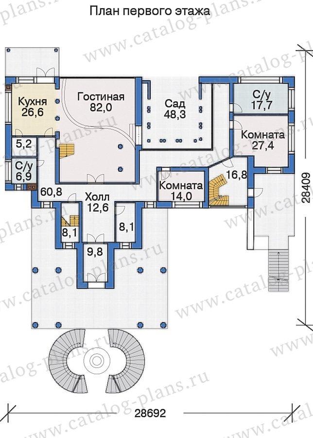План 2-этажа проекта 38-24