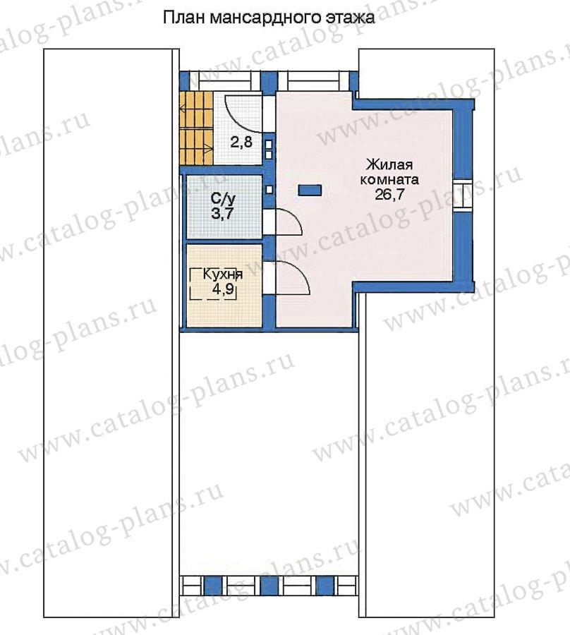 План 3-этажа проекта 35-95