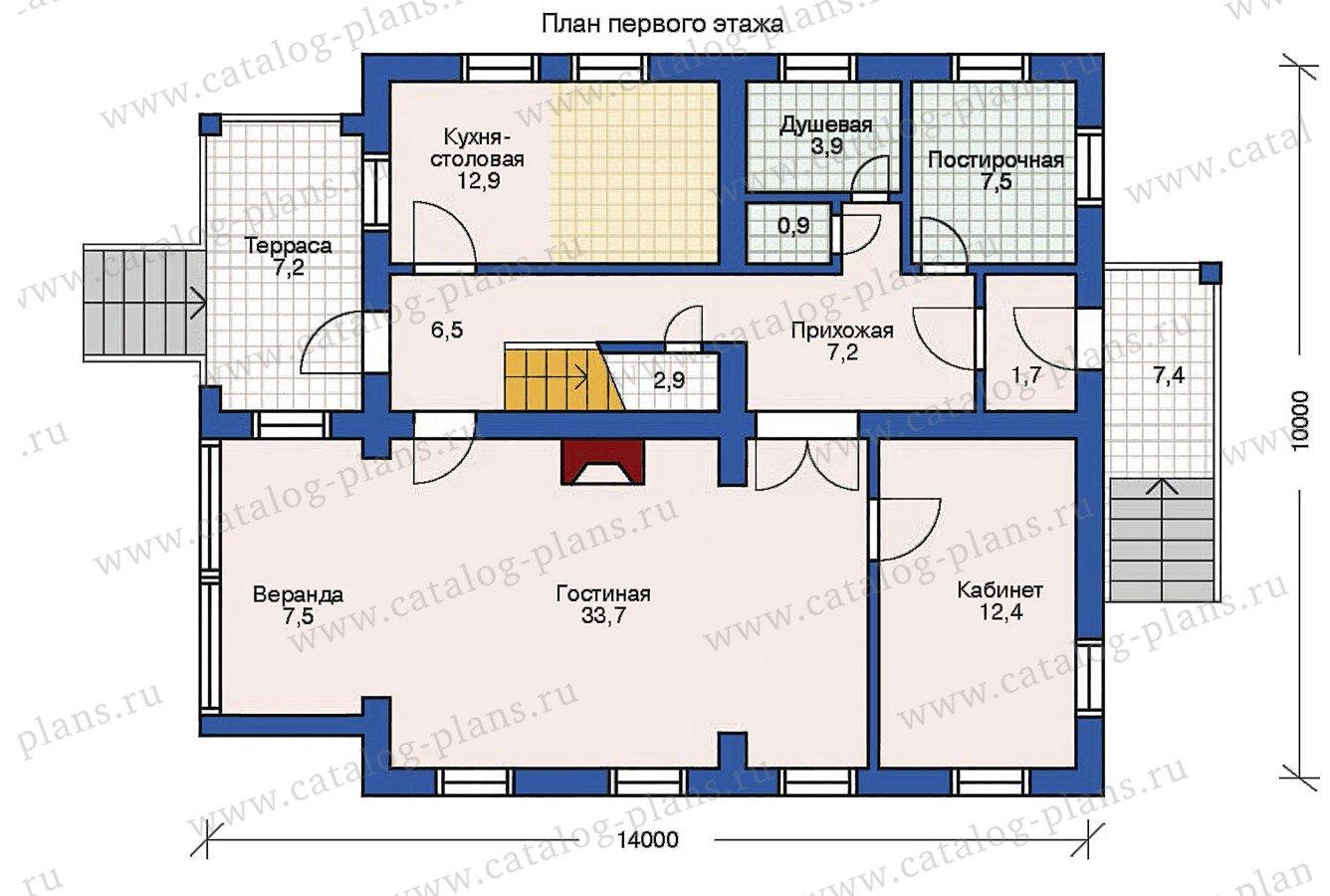 План 1-этажа проекта 10-29