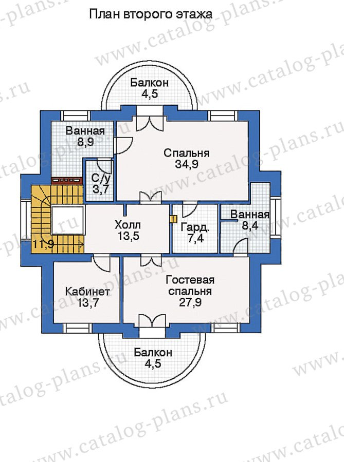 План 3-этажа проекта 35-27