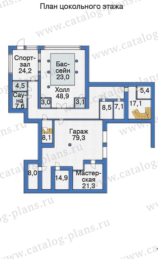 План 1-этажа проекта 38-24