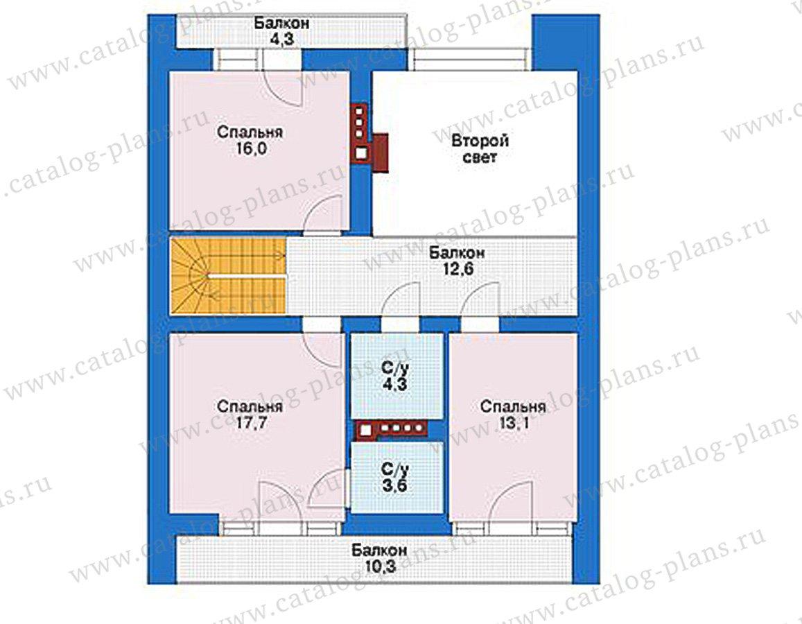 План 2-этажа проекта 39-15