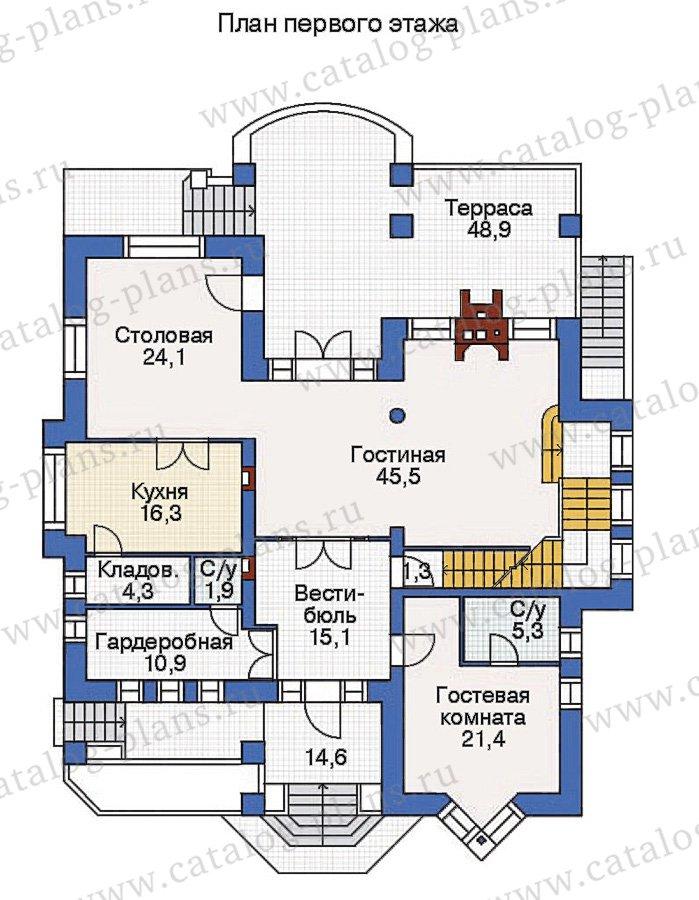 План 2-этажа проекта 36-22