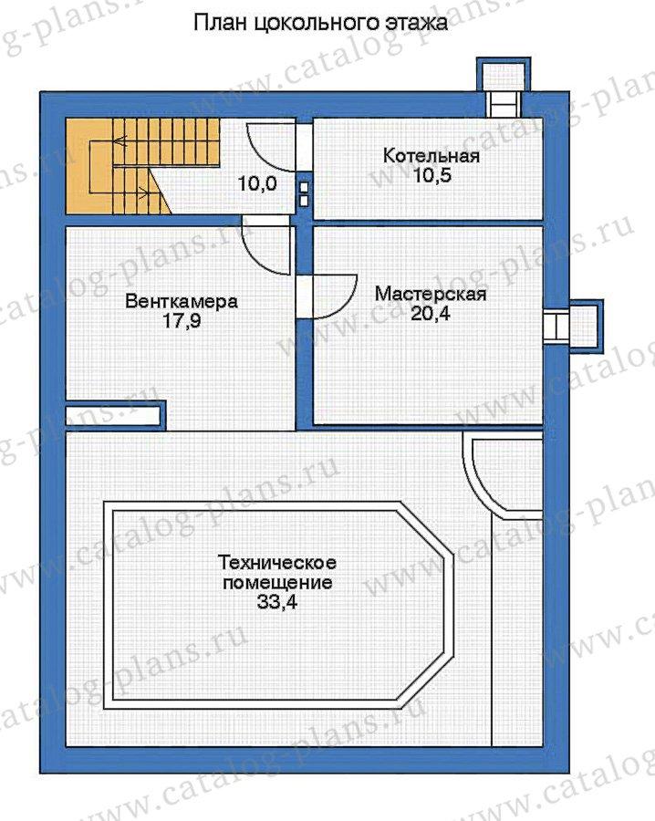 План 1-этажа проекта 35-95