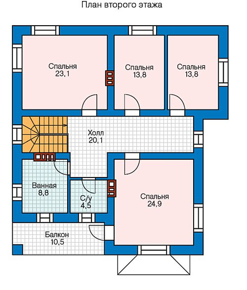 План 3-этажа проекта 57-39CL