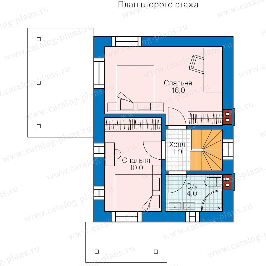 План 2-этажа проекта 58-57