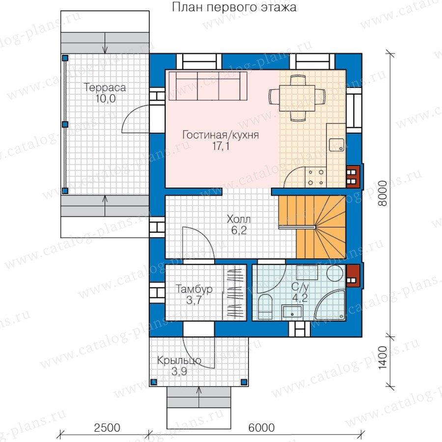 План 1-этажа проекта 58-57