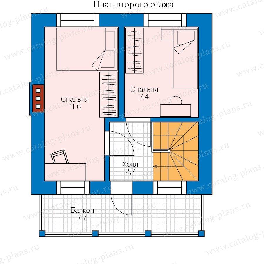 План 2-этажа проекта 58-56