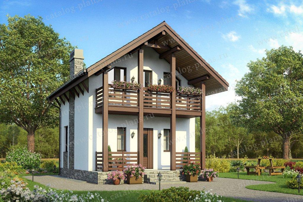 Проект дом #58-56 материал - газобетон, стиль европейский