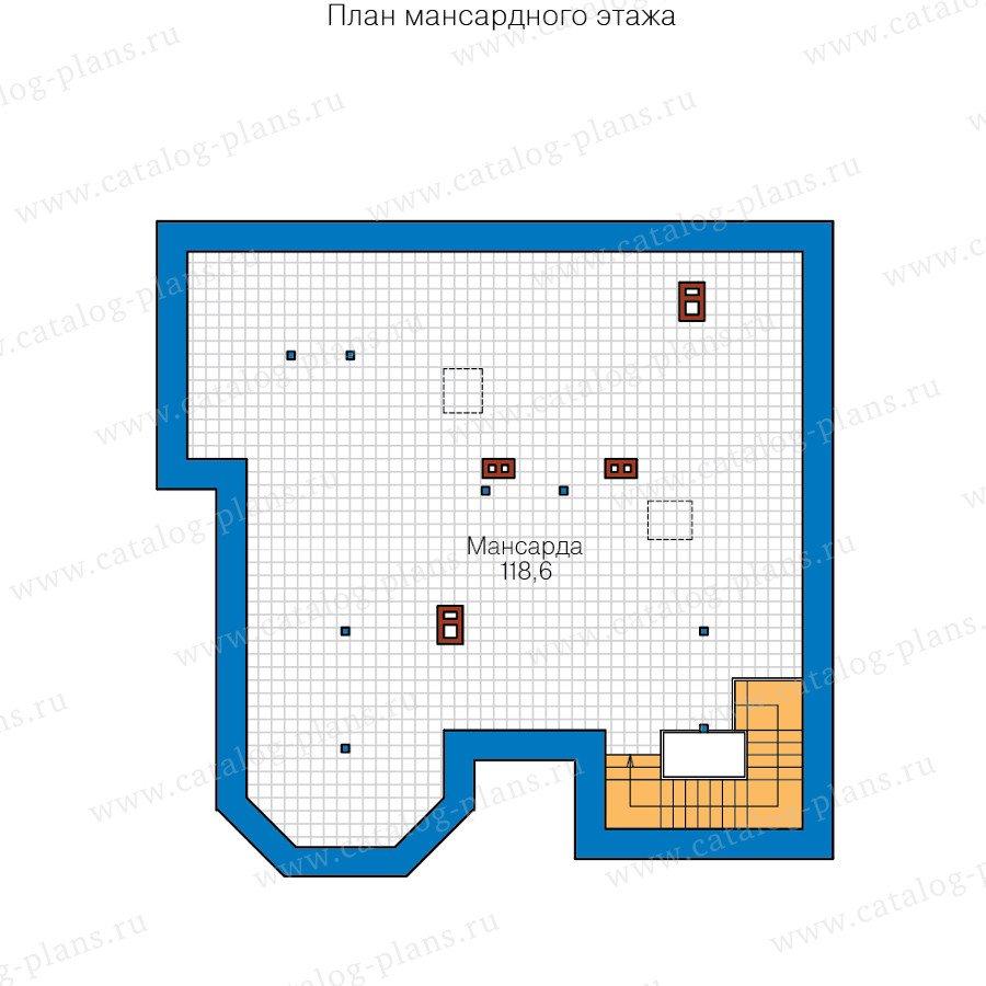 План 3-этажа проекта 48-21C