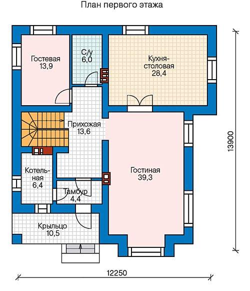 План 2-этажа проекта 57-39CL