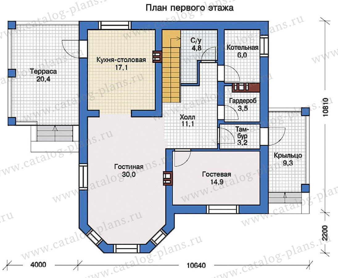 План 1-этажа проекта 57-43L