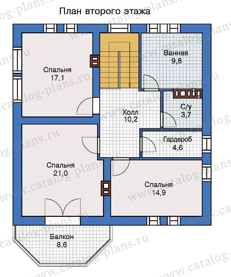 План 2-этажа проекта 57-43L