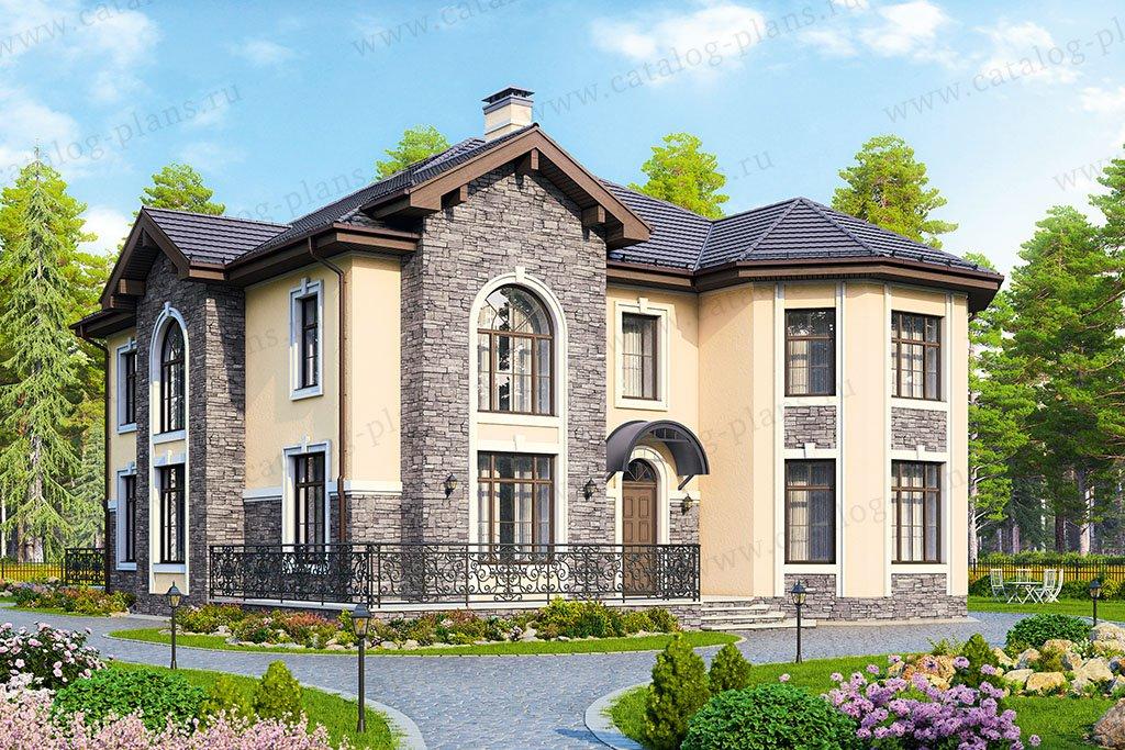 Проект жилой дом #48-31 материал - кирпич, стиль современный