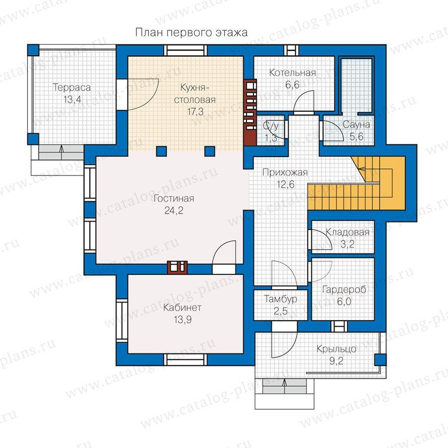 План 1-этажа проекта 57-00L