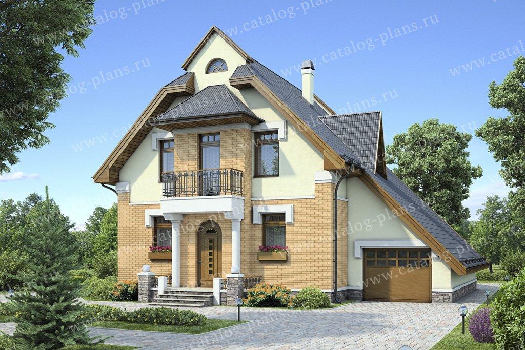 Проект жилой дом #55-17 материал - газобетон, стиль скандинавский