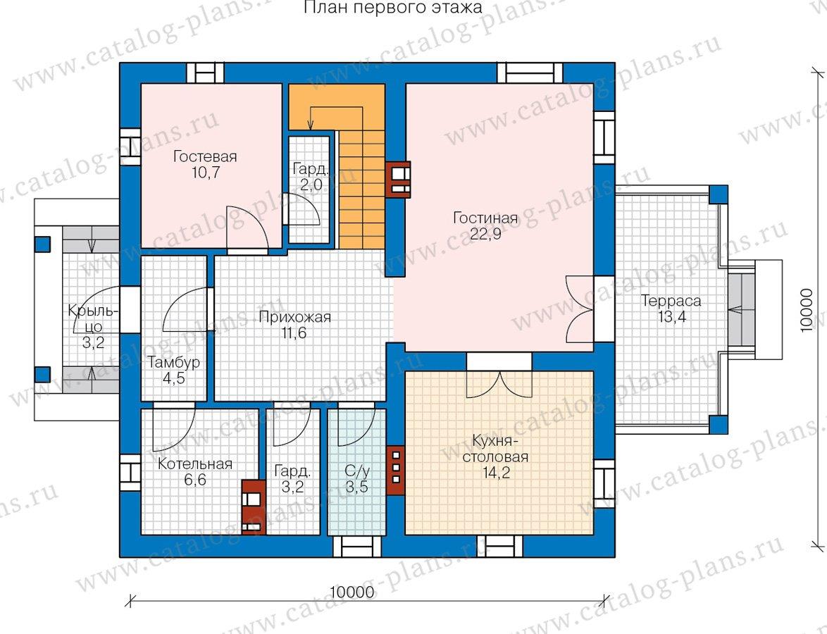 План 1-этажа проекта 57-05GL