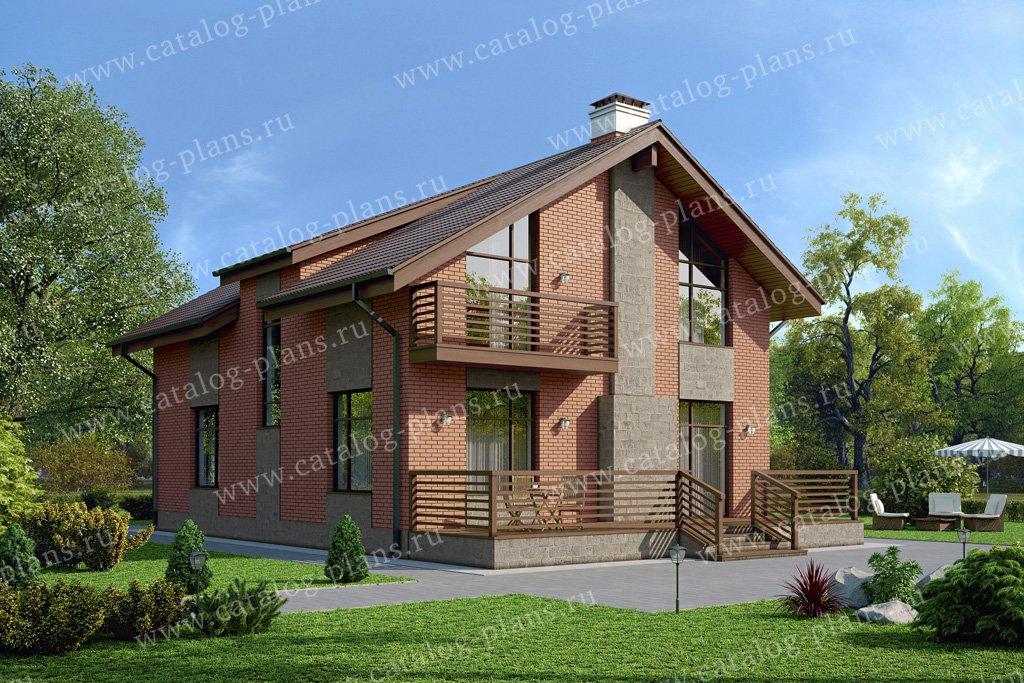 Проект жилой дом #57-10L материал - газобетон, стиль скандинавский