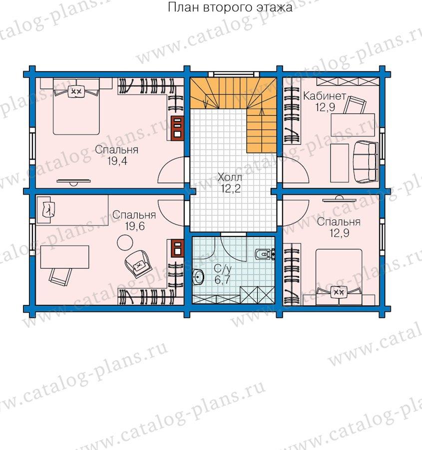 План 2-этажа проекта 60-85