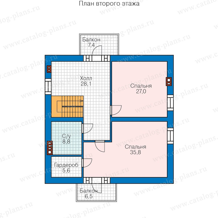 План 2-этажа проекта 58-51L