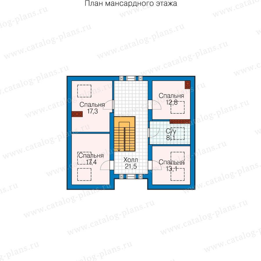 План 4-этажа проекта 58-54