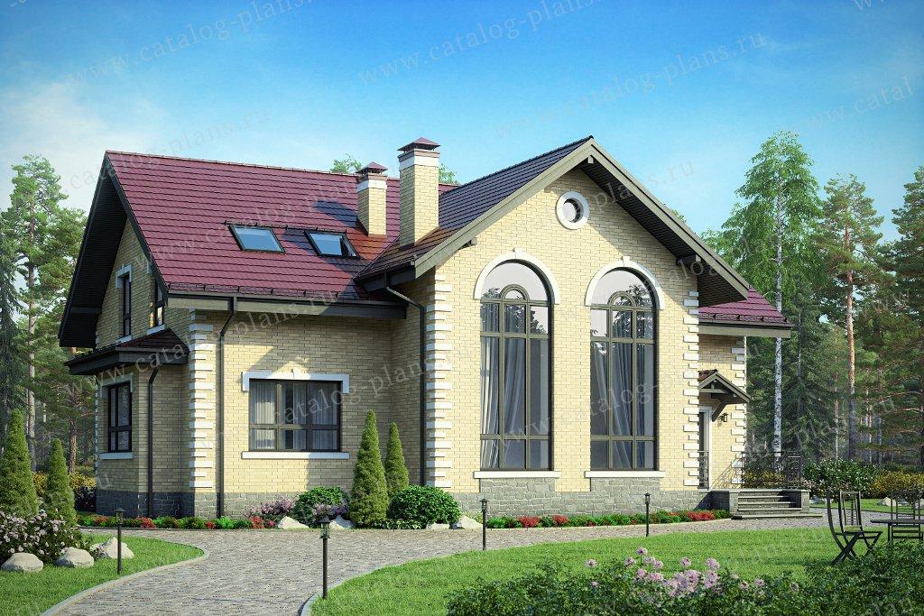 Проект жилой дом #40-44GL материал - газобетон, стиль классический