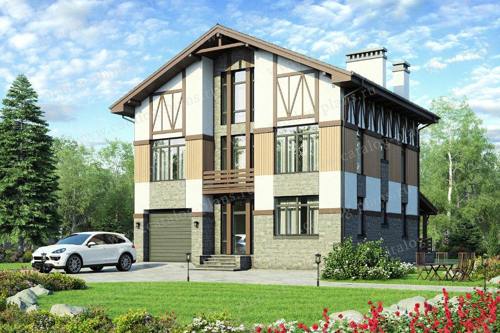 Проект жилой дом #58-54 материал - газобетон, стиль классический