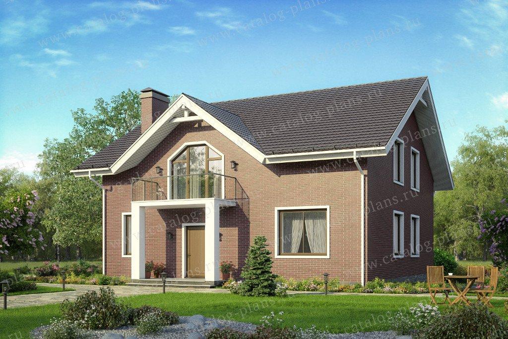 Проект жилой дом #58-51L материал - газобетон, стиль классический