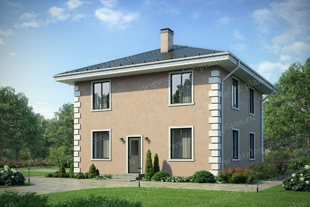 Проект жилой дом #40-04AK материал - кирпич, стиль европейский