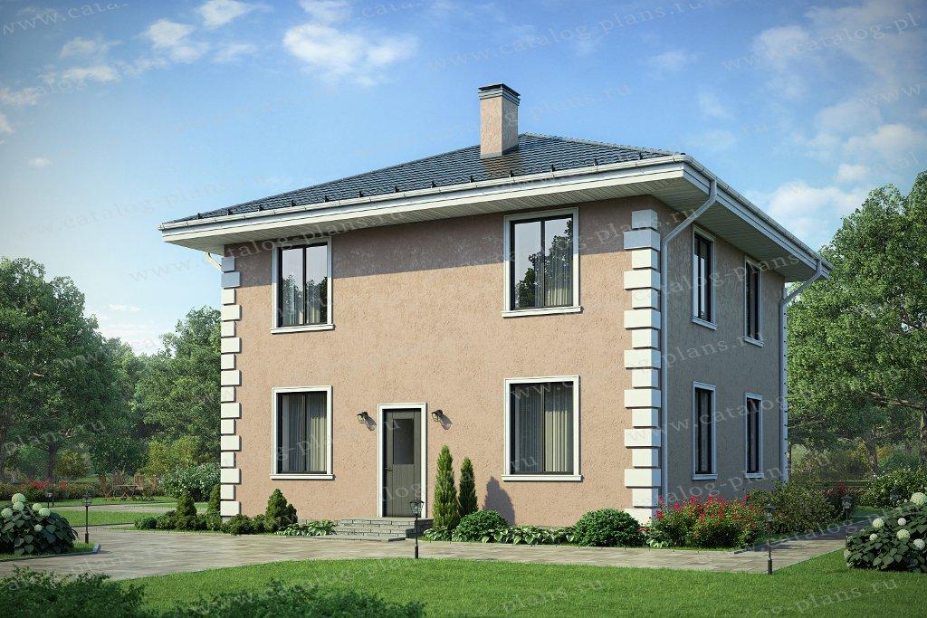 Проект жилой дом #40-04A материал - газобетон, стиль европейский