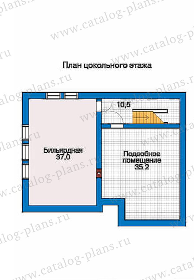 План 1-этажа проекта 50-92