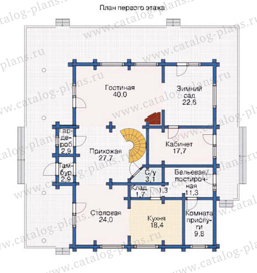 План 1-этажа проекта 12-02