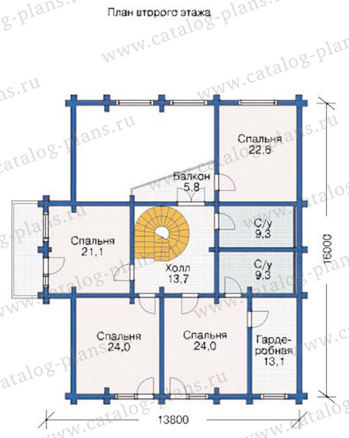 План 2-этажа проекта 12-02