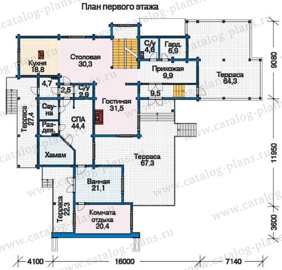 План 2-этажа проекта 12-57