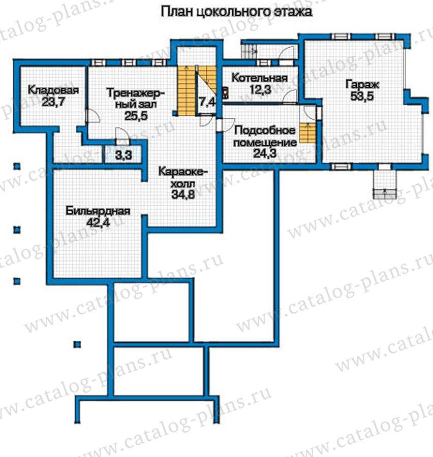План 1-этажа проекта 12-57