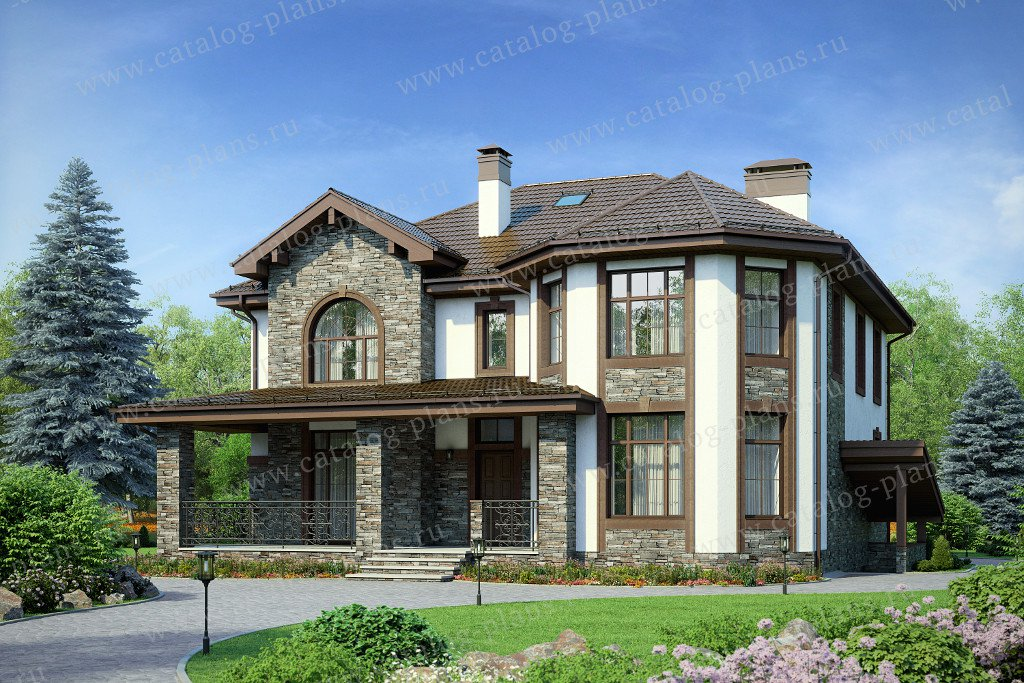 Проект жилой дом #40-11Е материал - кирпич, стиль