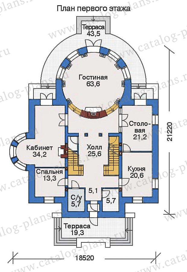 План 2-этажа проекта 32-76